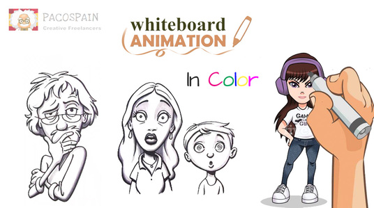 I will create an amazing whiteboard animation video ,complete package
