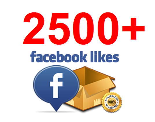 I will add 2500+ Facebook Fan Page Likes