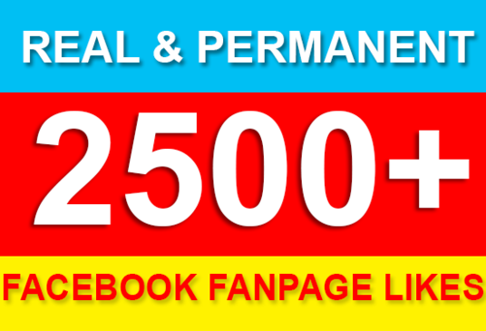 I will add 2500+ permanent Facebook likes