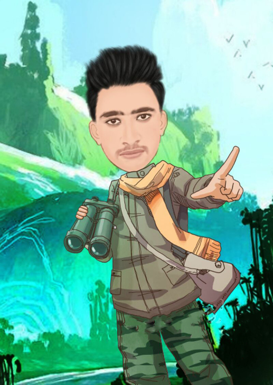 I will Draw A Cute Cartoon From Your Any Photo
