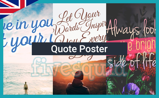 I will design a quote poster