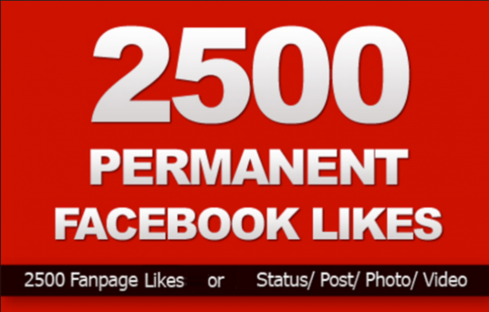 I will do 2500 Facebook fanpage likes