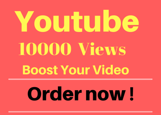 I will give you 10,000 youtube views to your youtube video,started within 48 hours
