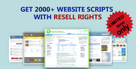 I will give you 2000 PHP scripts website Instantly Resell rights