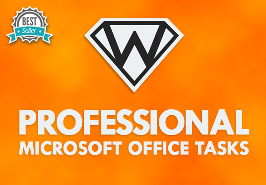 I will help you with ANY task that uses Microsoft Office (Word, Access, Excel, Outlook &