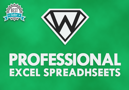 I will create a professional spreadsheet using Microsoft Excel