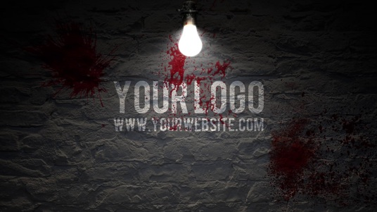 reveal your logo on a HORROR wall Halloween video intro
