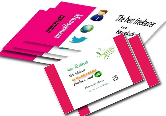 Design 2 Business Cards Or Letterhead with Stationery