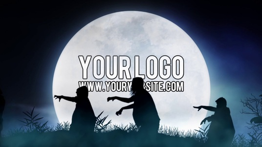 I will reveal your logo in this horror ZOMBIE Halloween video intro
