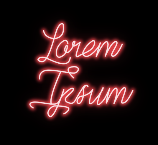 I will recreate your image, logo or text in neon
