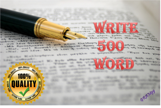 I will write 500 word of Unique and SEO optimized content or article for your website