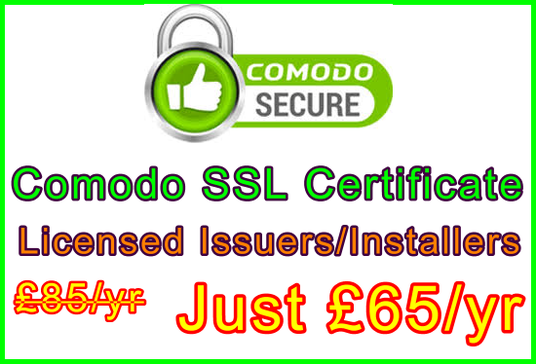 I will Issue and Install a Comodo SSL Certificate inc. All Signature Codes Published and Activate