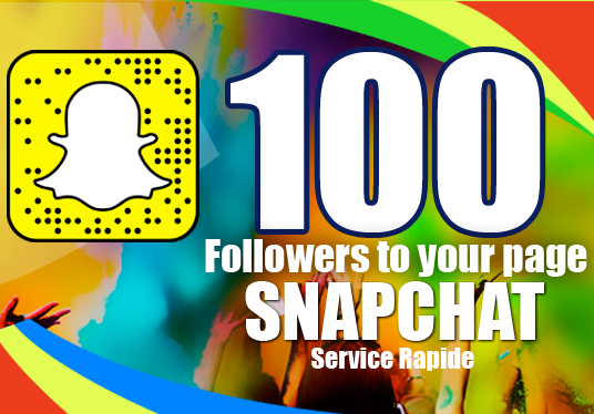 I will 100 Followers to your Page SNAPCHAT