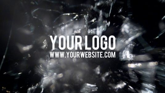 reveal your logo with three BULLET gun shots video intro