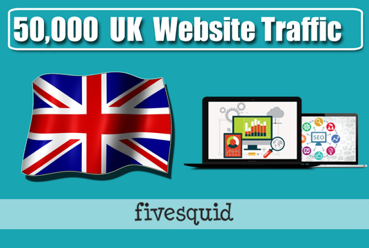 I will Give you  50,000  search engine UK Website Traffic Visitors