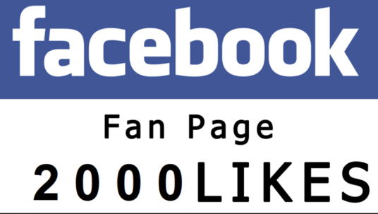 I will provide 2000 facebook fanpage likes Real likes