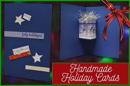 I will create a handmade holiday, birthday or Christmas greeting card mailed from Canada