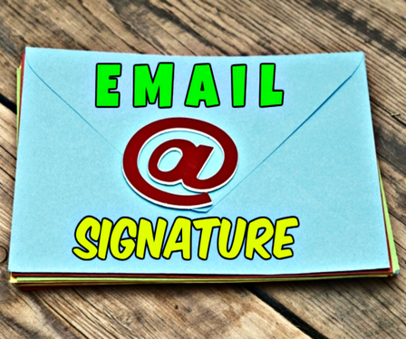 create professional html email signature