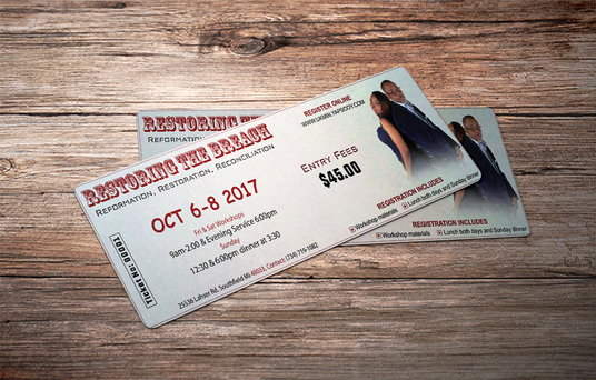 I will design attractive event ticket for you