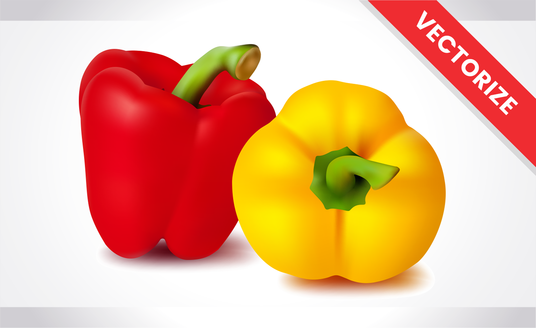 I will turn your fruits or vegetables into realistic vector illustrations