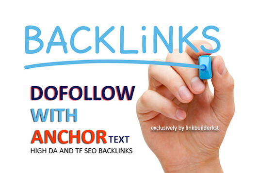 create 30 Unique Dofollow With Anchor Text Authority Backlinks