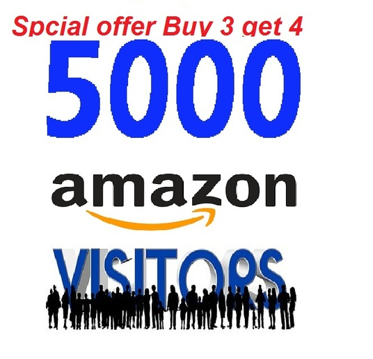 I will Increase 5000 visitors traffic to any Amazon store  ( Xmas & New Year Offer Buy 2