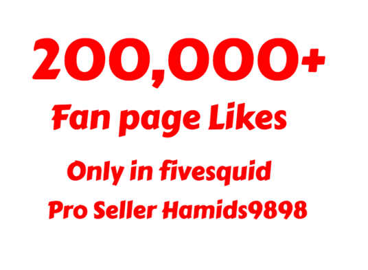 I will 200,000 Facebook Fan Page Likes