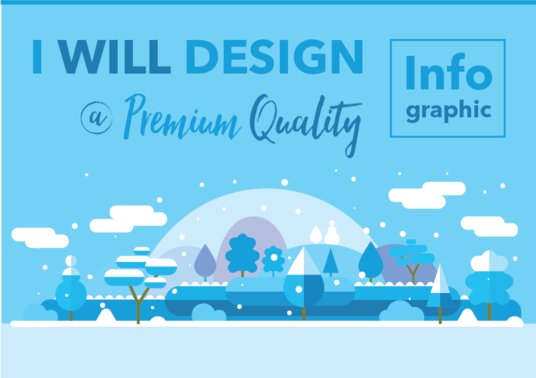 I will create a professionally designed Infographic