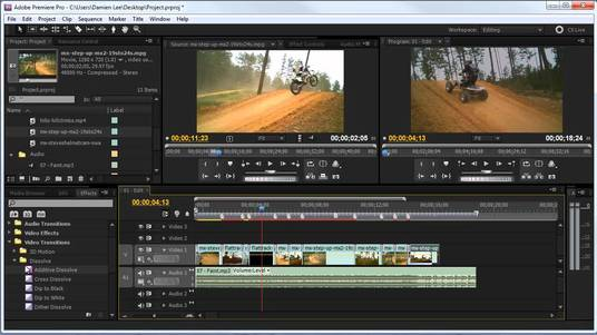 do video or audio editing that suits your needs using Adobe Premiere Pro and Audition