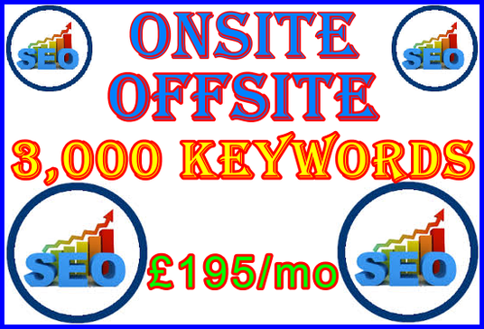 I will Provide SEO 3,000 Keywords  Google First Page Guaranteed Includes Onsite and Offsite Impor