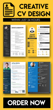 write & design creative & professional CV within 24 hours