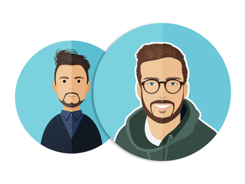 cccccc-Create Flat Style Vector Avatar Or Portrait Of You