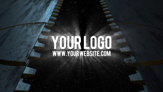 reveal your logo with a sci-fi space GATE door video intro