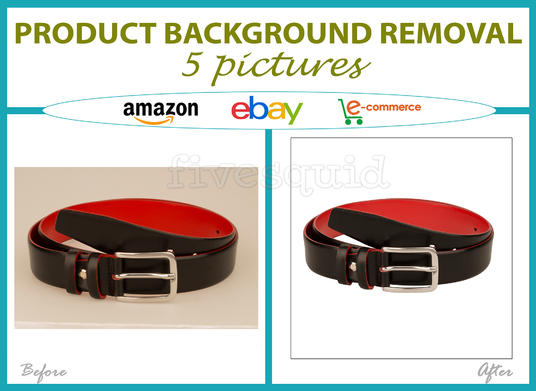 I will remove the background of 5 products for Amazon or eBay within 24 h