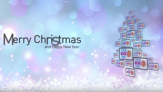 make Corporate modern Holidays Christmas and New Year intro Logo Reveal
