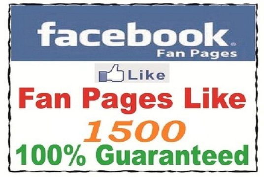 I will Give Real 1500 UK Facebook Likes on Facebook Fanpage