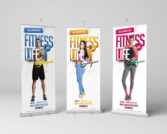 I will Design Banners or Roll Up Banners