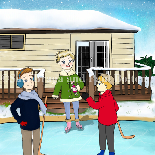 I will Illustrate  5 pages for your children's book