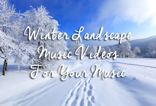 I will create a Christmas winter landscape music video
