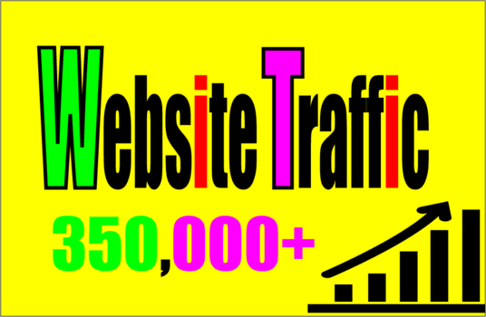 I will Add you 350,000+ TARGETED Human Traffic to your Website