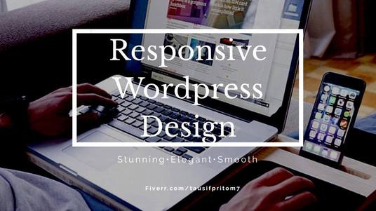 I will make a stunning responsive WP website for you