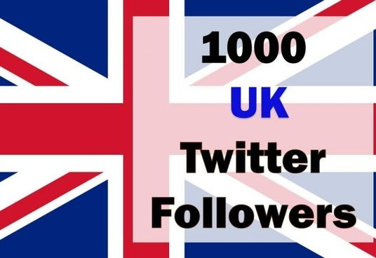 I will give 1,000+ real UK twitter followers