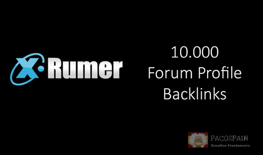 I will create 10,000 profile backlinks with XRumer