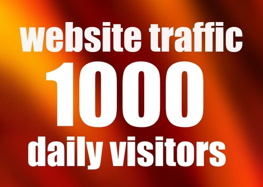 I will give you 1000 Daily Visitors for one month