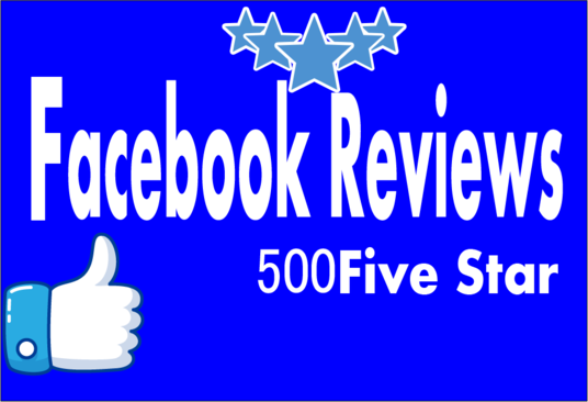 I will Give Facebook 500 Five star Reviews to your Fan page