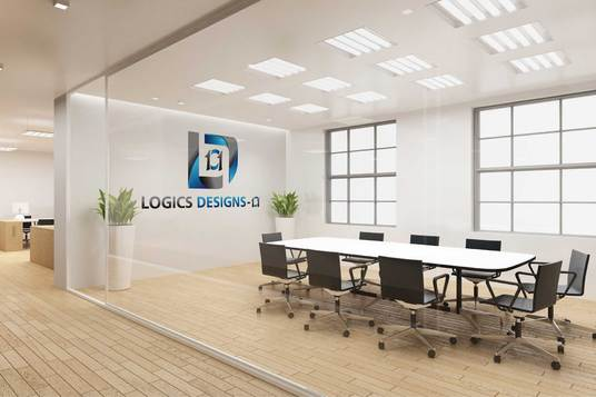 design 4 Realistic Interior Office mock-up