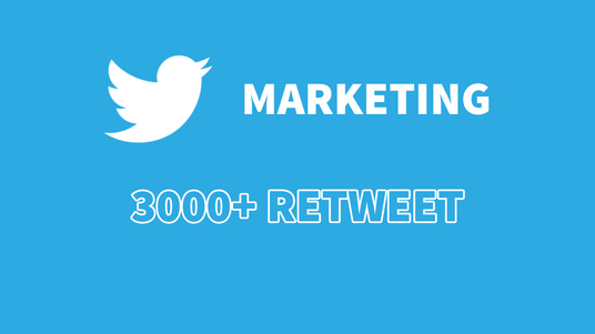 I will promote your tweet for 3000 high quality retweets