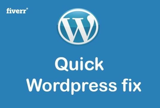 I will fix WordPress issue