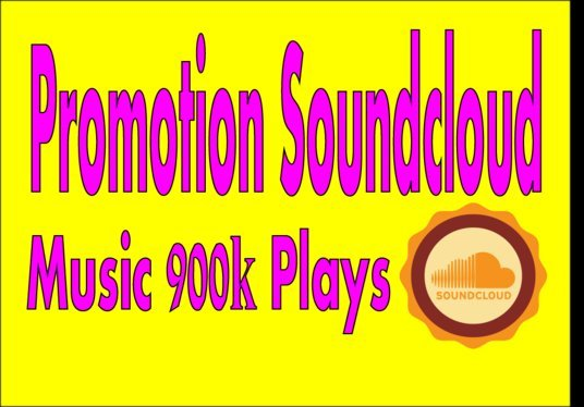 I will Promote your Soundcloud Music 900k Plays