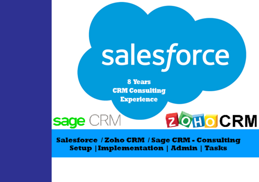 I will setup Zoho CRM or Salesforce CRM